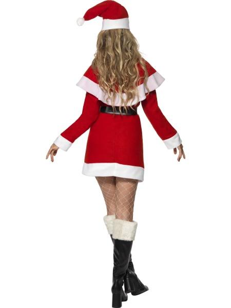 7abdac164 Úvod > Karnevalové kostýmy > Vánoční kostýmy > Dámský kostým Miss Santa.  Kostým Miss Santa obsahuje minišaty, pásek,přehoz a čepičku.