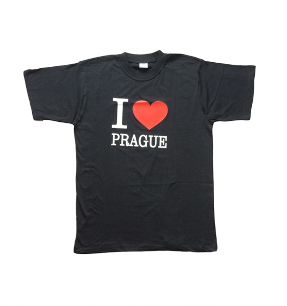45c95babc57 Tričko s vtipným potiskem  I love Prague - Ptákoviny-eshop.biz